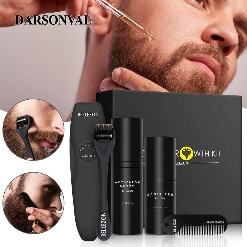 AliExpress Kit de croissance de la barbe pour hommes, huile nourrissante, rehausseur, huile de barbe, soins de