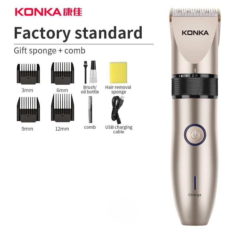 AliExpress KONKA électrique tondeuse à cheveux tondeuse à barbe Rechargeable tondeuse à cheveux pour barbier