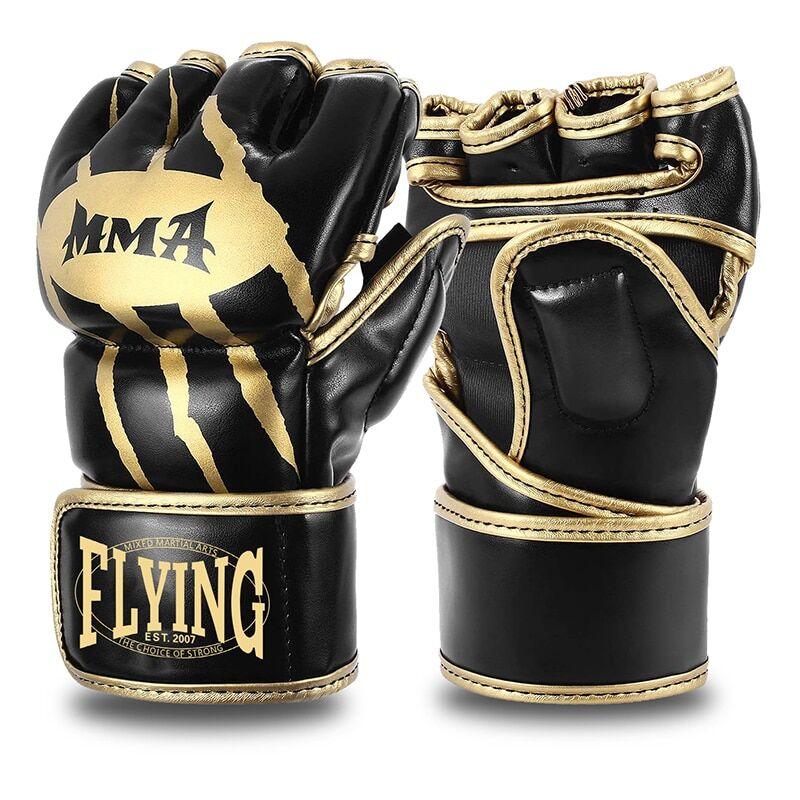 AliExpress Gants de boxe demi-doigt en cuir PU pour hommes, gants de combat MMA, de karaté Muay Thai,