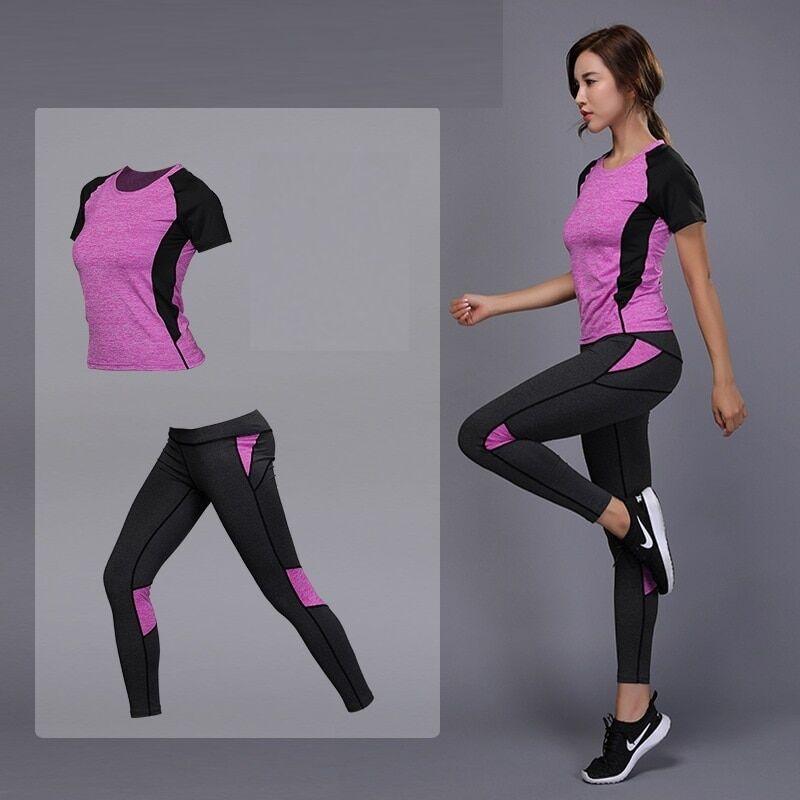 AliExpress Ensemble de vêtement fitness de yoga pour femme,jogging de sport, legging d'entraînement, course,