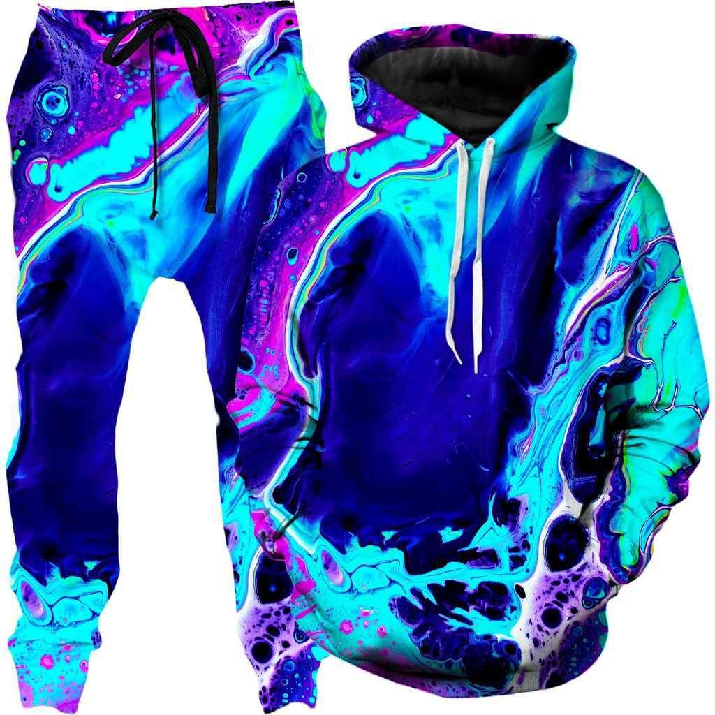 AliExpress Sweat-shirt de sport deux pièces pour homme et femme, impression peinture à l'huile en 3D, vêtements