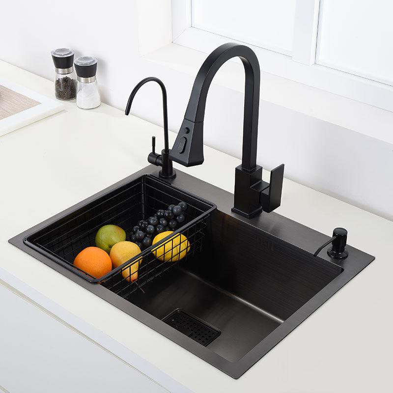 AliExpress vier de cuisine noir 304 inox lavabo à légumes noir évier au-dessus du comptoir ou udermount évier