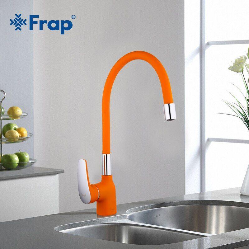 AliExpress Frap mélangeur d'eau froide et chaude, nez en Gel de silice Orange, robinet de cuisine dans toutes