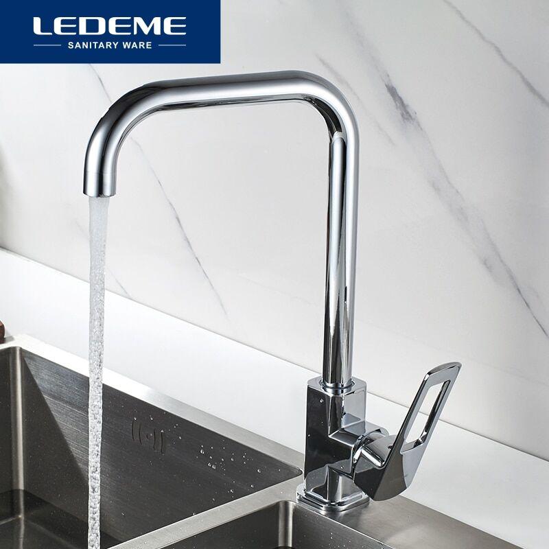 AliExpress LEDEME robinet de cuisine, eau chaude et froide monté sur le pont, mitigeur d'évier à légumes
