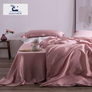 AliExpress Liv-esthete – parure de lit 100% soie, rose mûre, haut de gamme, pour femmes, drap, housse de - Publicité
