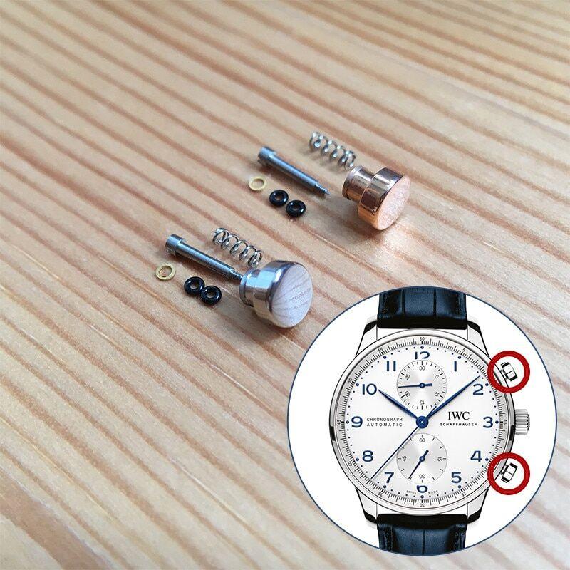AliExpress Bouton poussoir en acier étanche pour montre automatique, pour IWC portugais de 40.9mm, outils de
