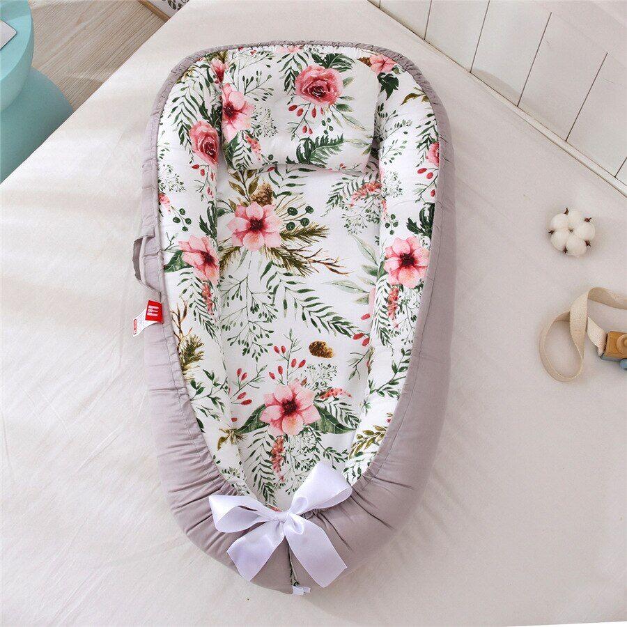 bebe Lit de bébé Portable, nid de bébé avec coussin d'oreiller, couffin en tissu de coton