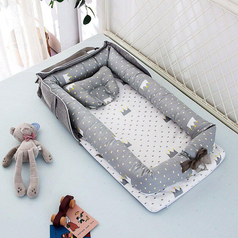 AliExpress Berceau Portable en tissu de coton pour bébé, lit de voyage pour tout-petit