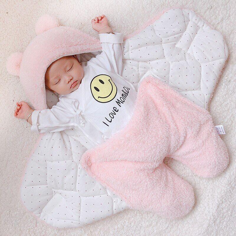 AliExpress Couverture d'hiver en coton pour bébé, sac de couchage pour nouveau-né