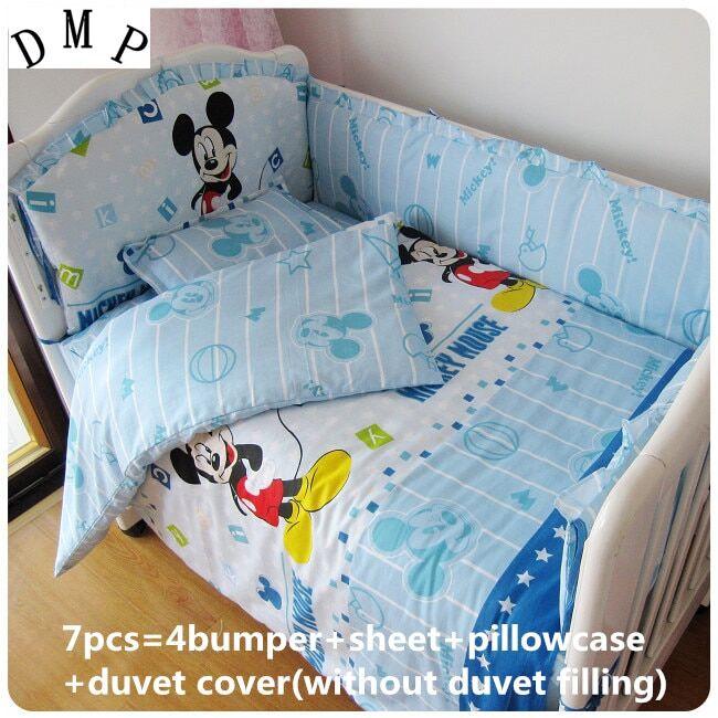 AliExpress Parure de lit 100% coton pour bébé, ensemble de literie avec motifs de dessins animés, protège du