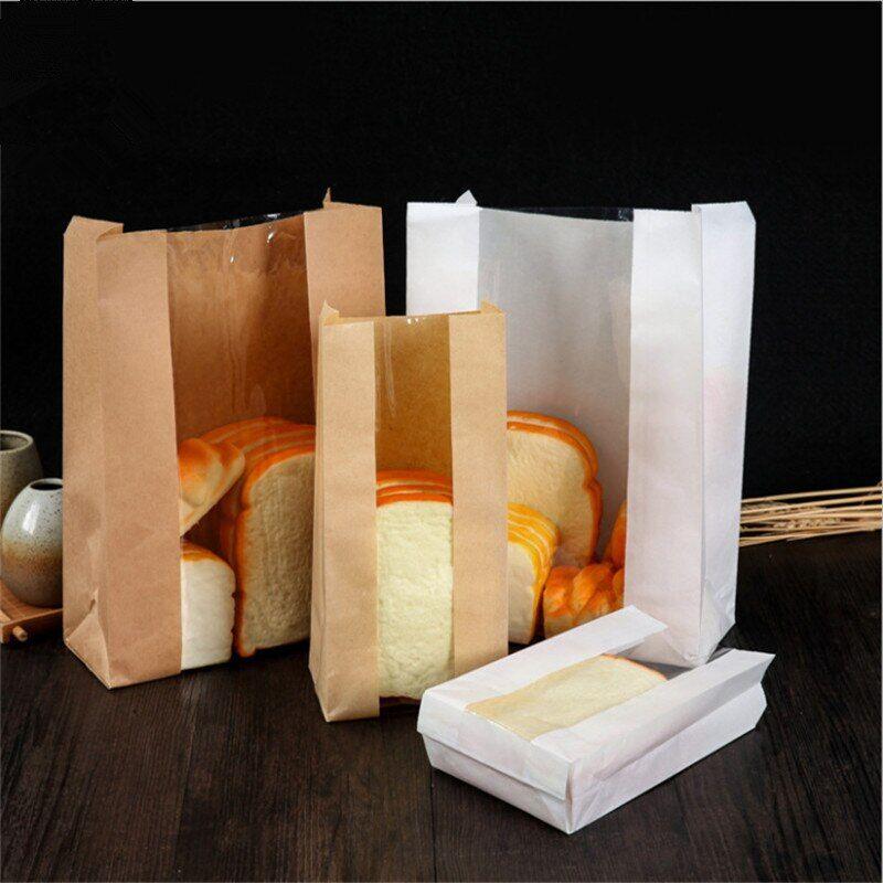 AliExpress 100 pièces résistant à l'huile alimentaire papier sac fenêtre Transparent pain Toast cuisson