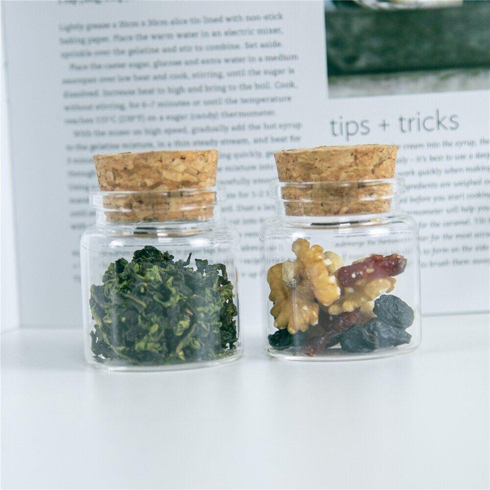 AliExpress Petits bocaux en verre de 50ml avec bouchons, artisanat créatif, bouteilles de voyage rechargeables,