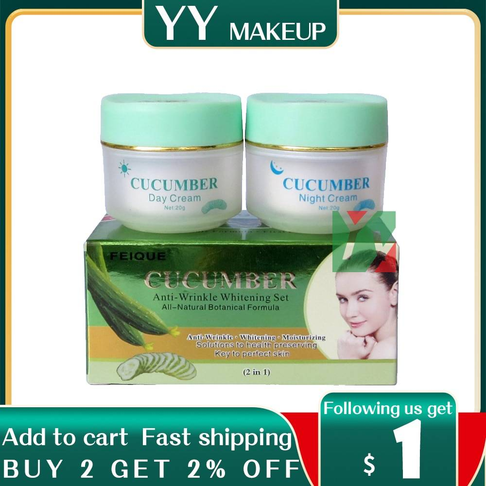AliExpress Crème éclaircissante anti-rides au concombre, pour le visage, formule botanique naturelle,