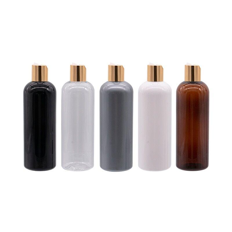 AliExpress Récipients ronds vides en plastique de 300ml, bouchon à pression or, shampoing, lavage, nettoyage,