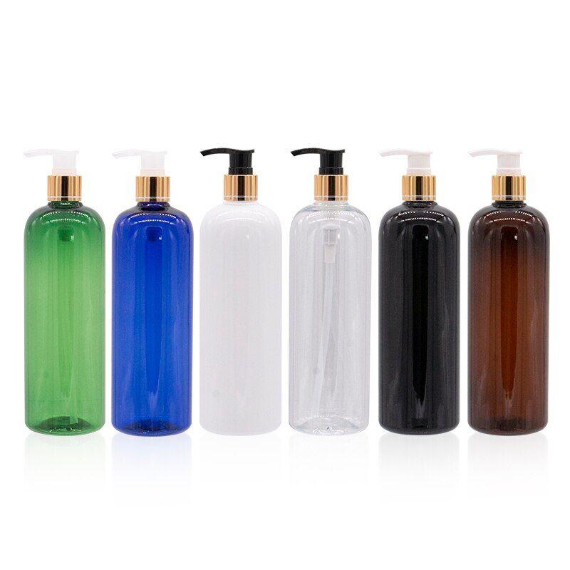 AliExpress Distributeur de savon liquide à pompe de 500ml, conteneur cosmétique noir et blanc de haute qualité,