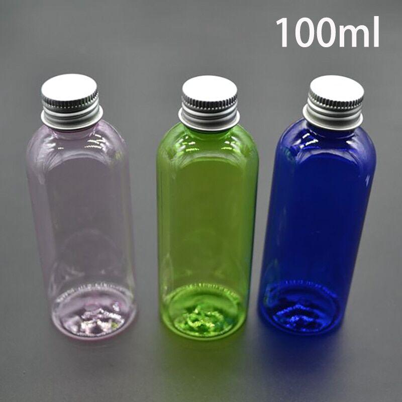 AliExpress Bouteille vide en plastique de 100ml, rose, vert, bleu, pour cosmétiques, conteneur d'huile