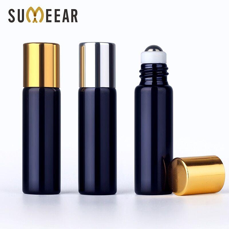 AliExpress Flacon de parfum en verre UV avec rouleau, vide, pour huiles essentielles, 50/5ml