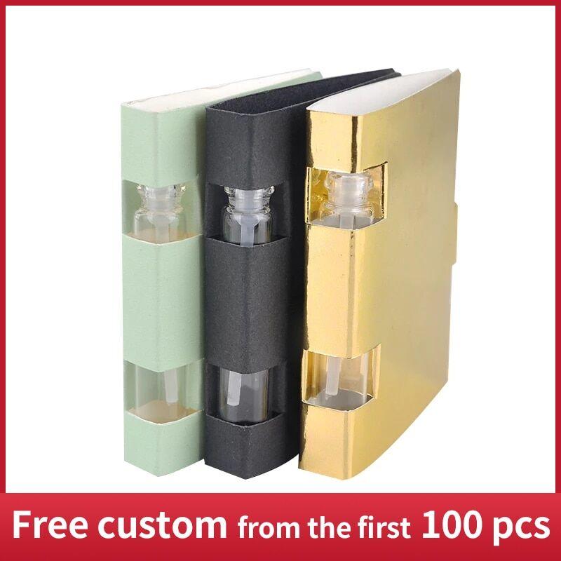 AliExpress Bouteille de parfum en verre de 2ML, mallette cosmétique vide personnalisable pour essai, avec carte