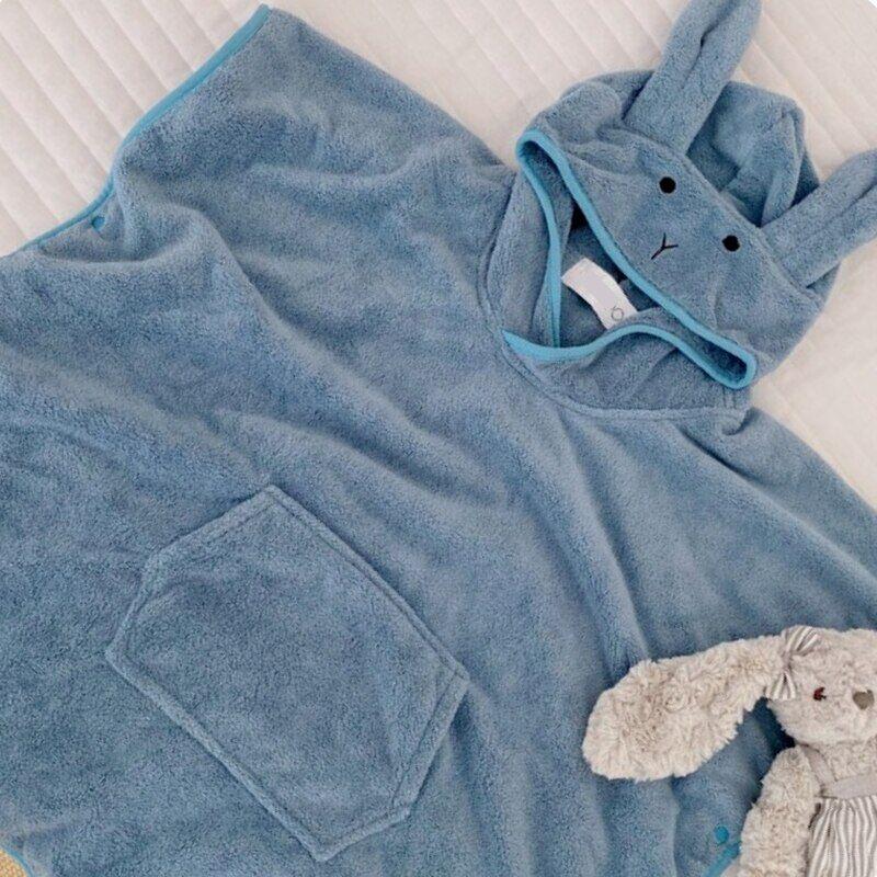 AliExpress Serviette de plage à capuche en coton pour bébé, peignoir absorbant doux pour nouveau-né, Poncho