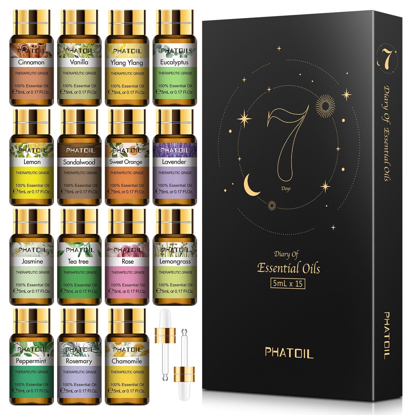 AliExpress Huiles essentielles pures 15 pièces, coffret cadeau, diffuseur d'huile essentielle aromatique