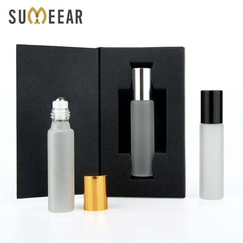 AliExpress Lot de 50 Mini bouteilles d'huile essentielle 10ml en verre givré, flacon de parfum vide