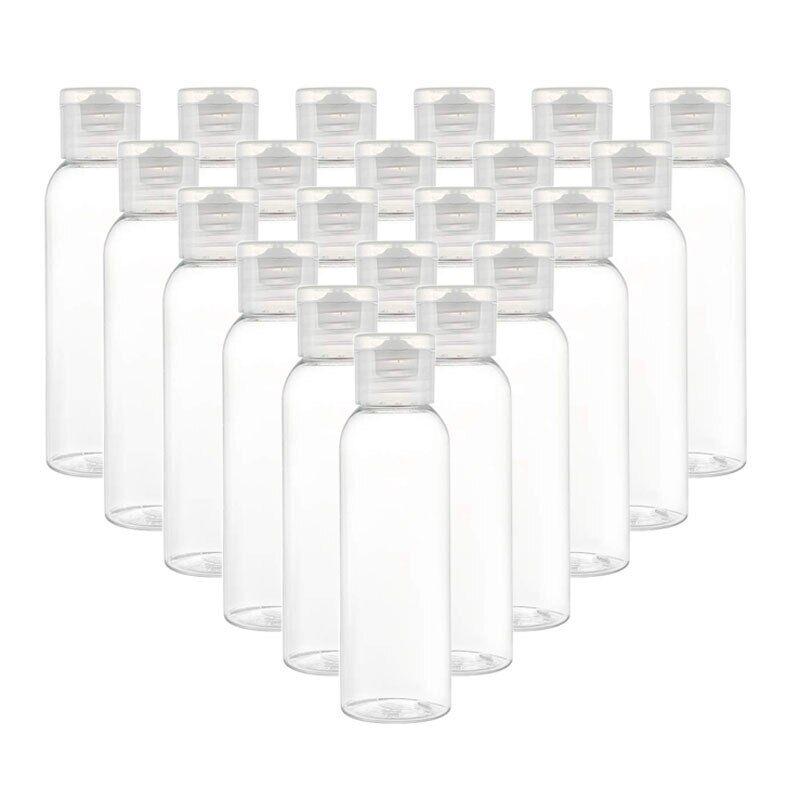 AliExpress Bouteille vide en plastique Transparent avec bouchon rabattable, contenant d'emballage pour eau,