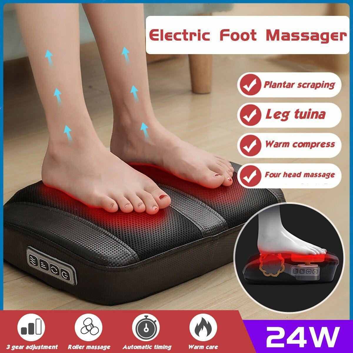 AliExpress Masseur électrique pour les pieds Shiatsu, appareil de Massage à infrarouge avec rouleau chauffant,