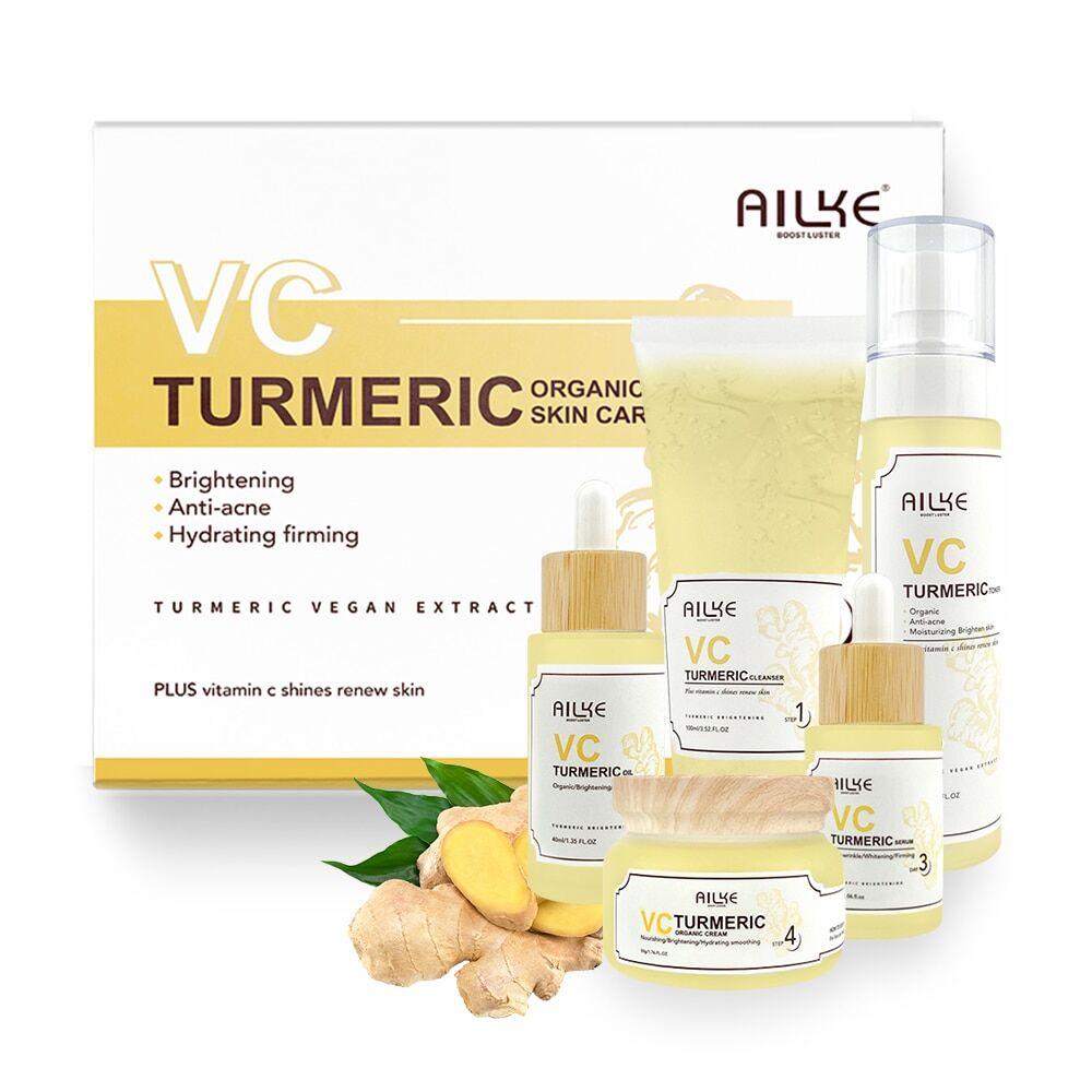 AliExpress AILKE – ensemble de soins pour la peau, vitamine C, bio, Anti-acné, blanchissant, hydratant,