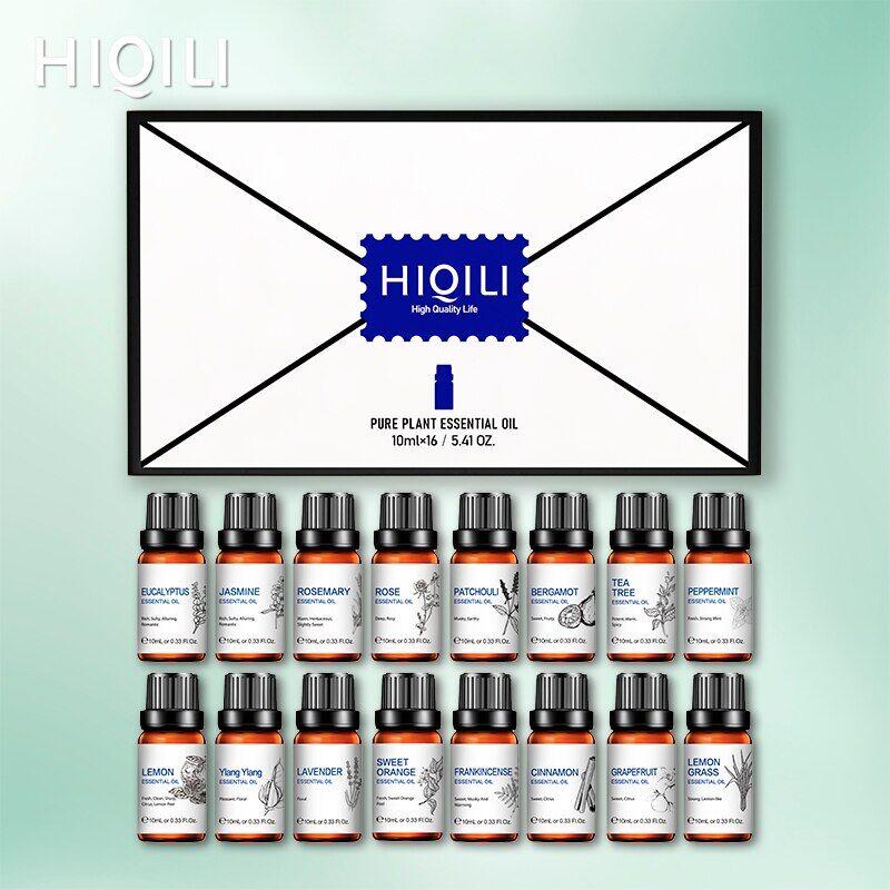 AliExpress HIQILI – ensemble d'huiles essentielles, diffuseur d'arôme, lavande, Rose, santal, menthe poivrée,