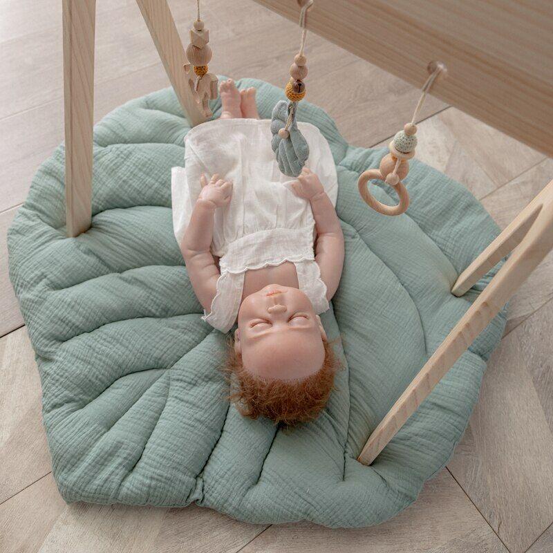 AliExpress Tapis de jeu nordique en feuille de coton pour bébé, couverture douce, motif dessin animé,