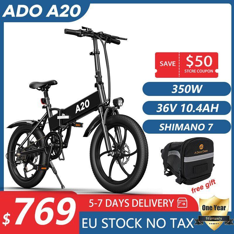 AliExpress ADO A20 Vélo lectrique 20 Pouces Pliable Vélo lectrique 36V10.4AH Batterie Au Lithium Ebike Hommes
