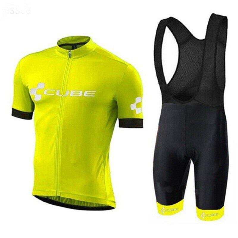 AliExpress 2021 CUBE D'été Ensembles de Maillot de Cyclisme Respirant VTT Vélo Vélo Vêtements de Montagne