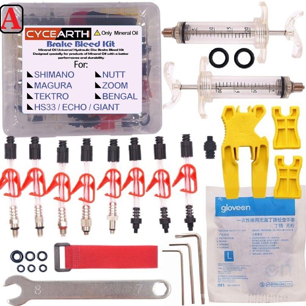 AliExpress Kit de purge d'huile minérale de vélo, outil pour SHIMANO TEKTRO MAGURA louis marta HS33 HS11 ECHO