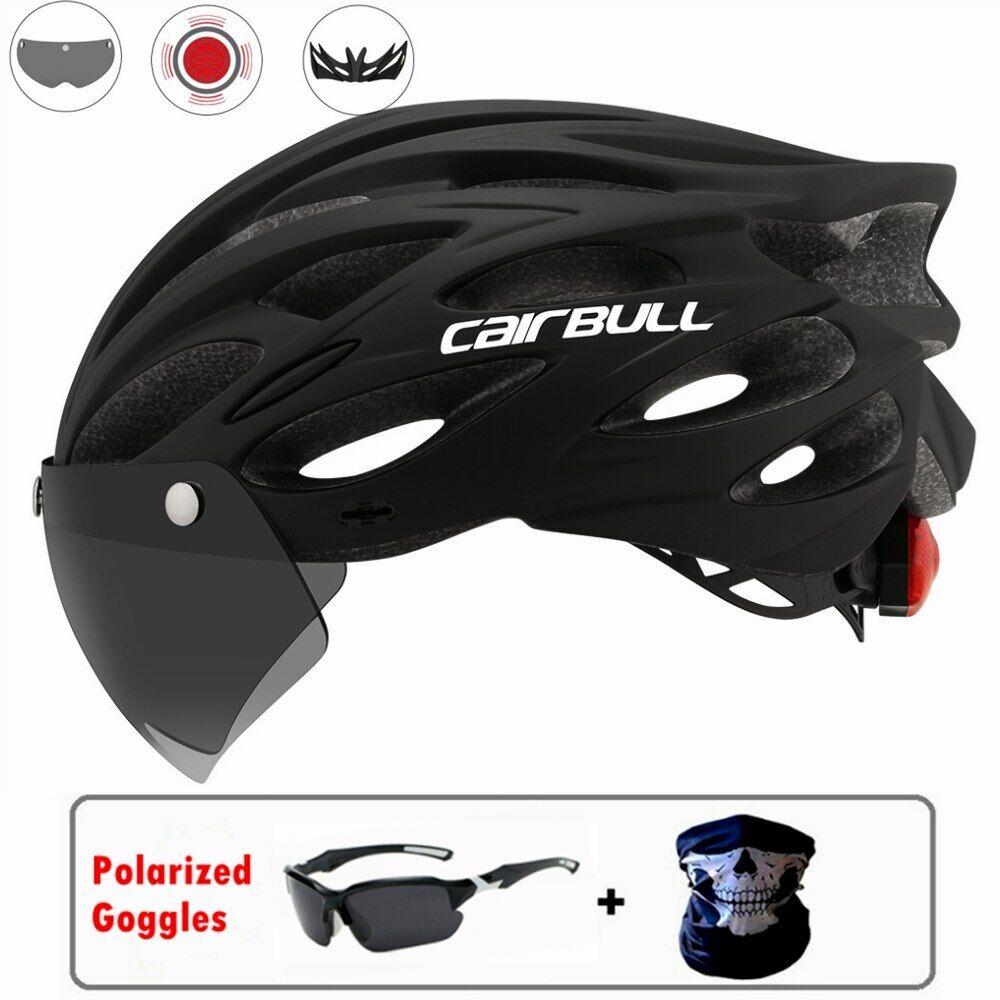 AliExpress ALLROAD – casque de vélo léger avec lunettes claires magnétiques, avec lentille, pour la course sur