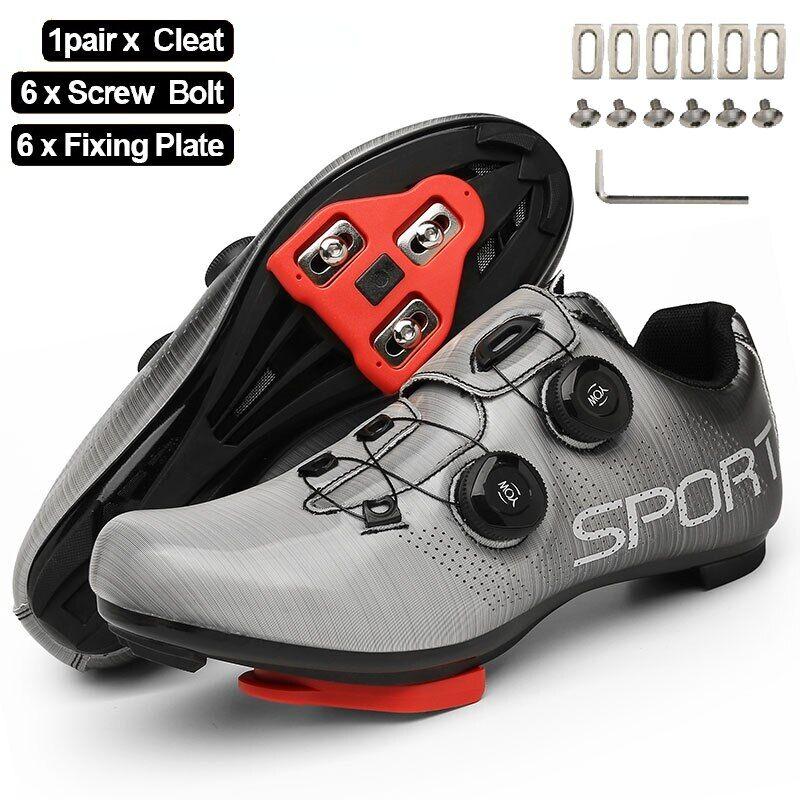 AliExpress Chaussures de cyclisme pour hommes, baskets de vélo vtt, de course sur route, à taquet plat SPD, de