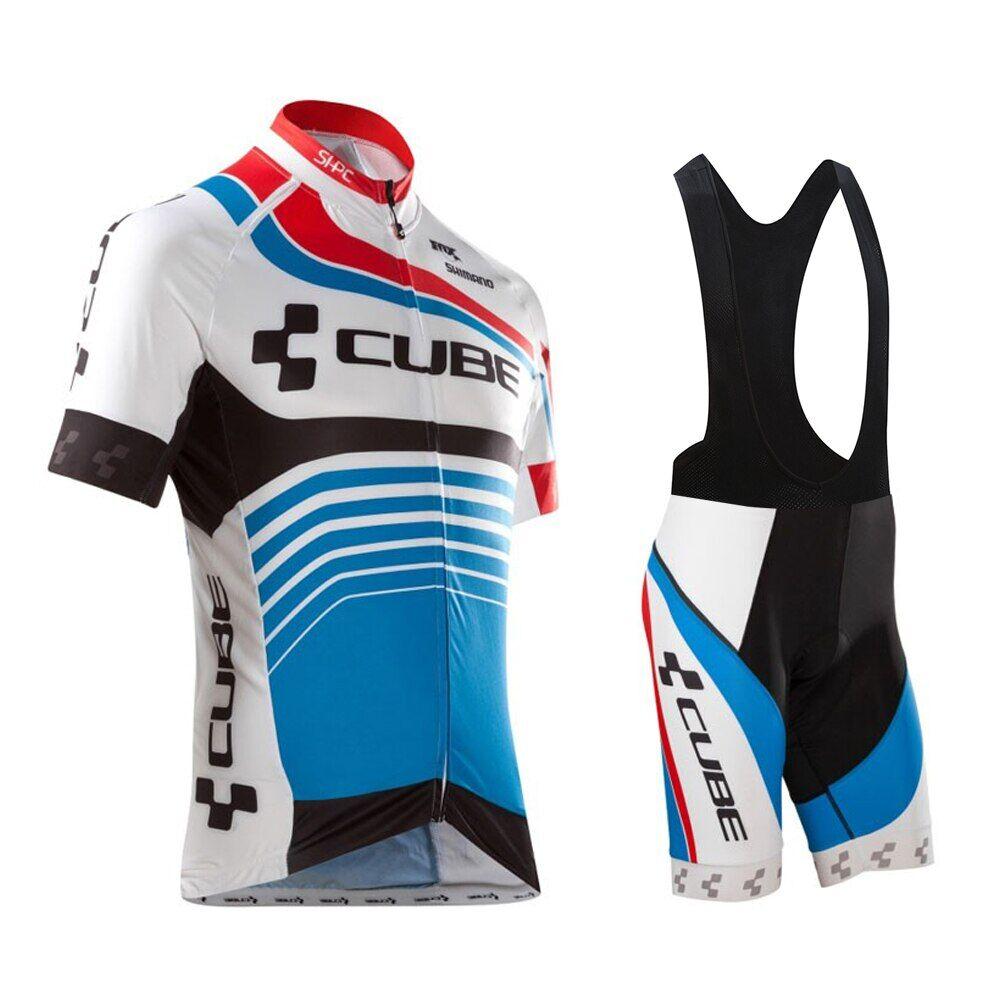 AliExpress Maillot de cyclisme CUBE pour hommes, chemise et short de vélo, vêtements d'équipe professionnelle,