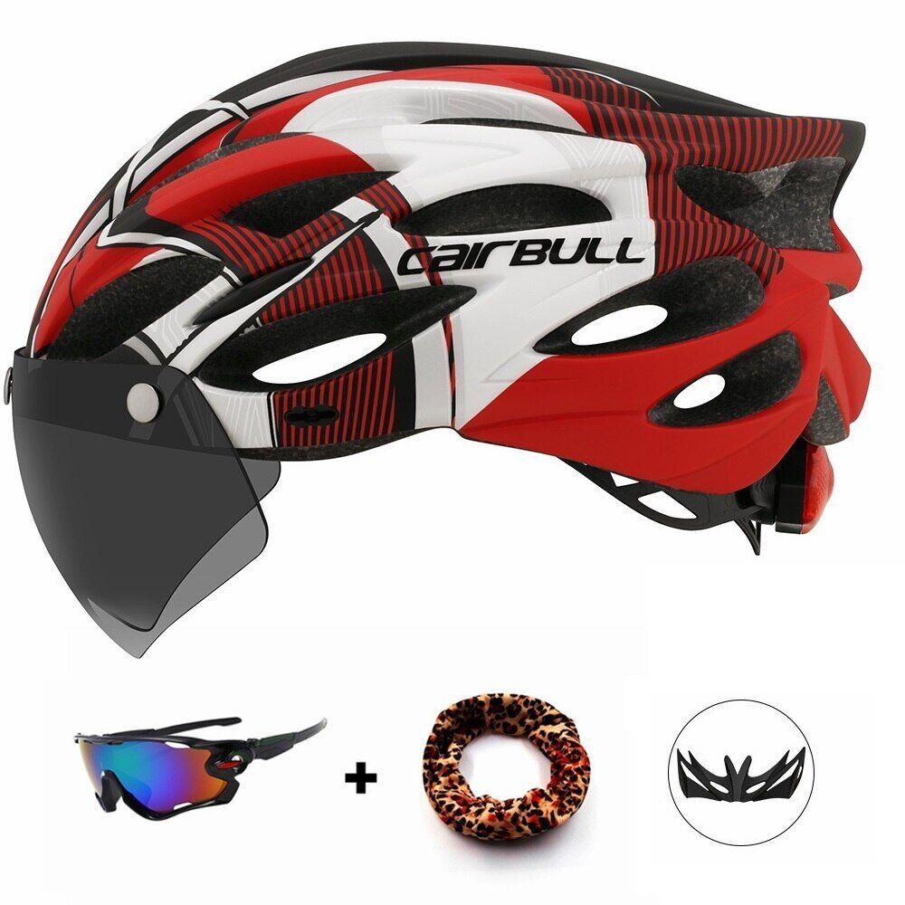 AliExpress Casque de cyclisme élégant Triathlon, feu arrière sûr avec lunettes magnétiques, vtt, course, vélo