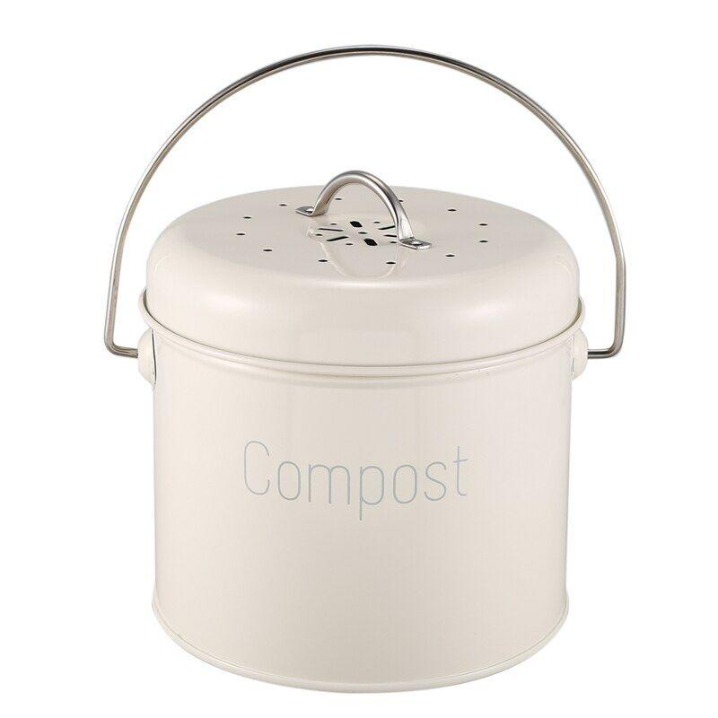 AliExpress Composter de cuisine en acier inoxydable 3l, filtre à charbon, pour déchets alimentaires