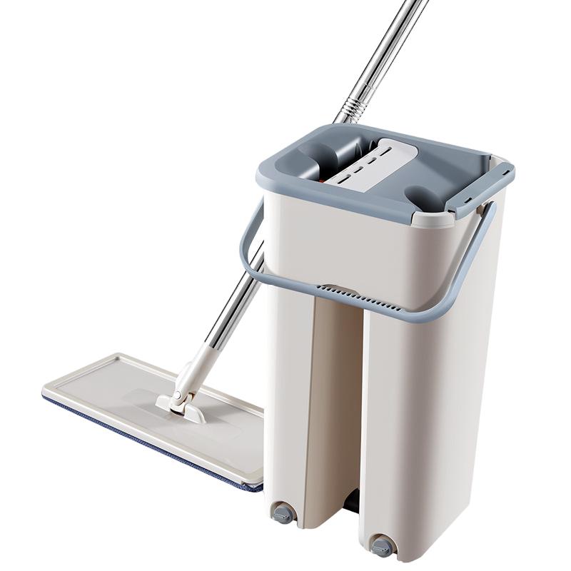AliExpress Serpillière en microfibre avec seau, serpillière humide pour salle de bain et cuisine