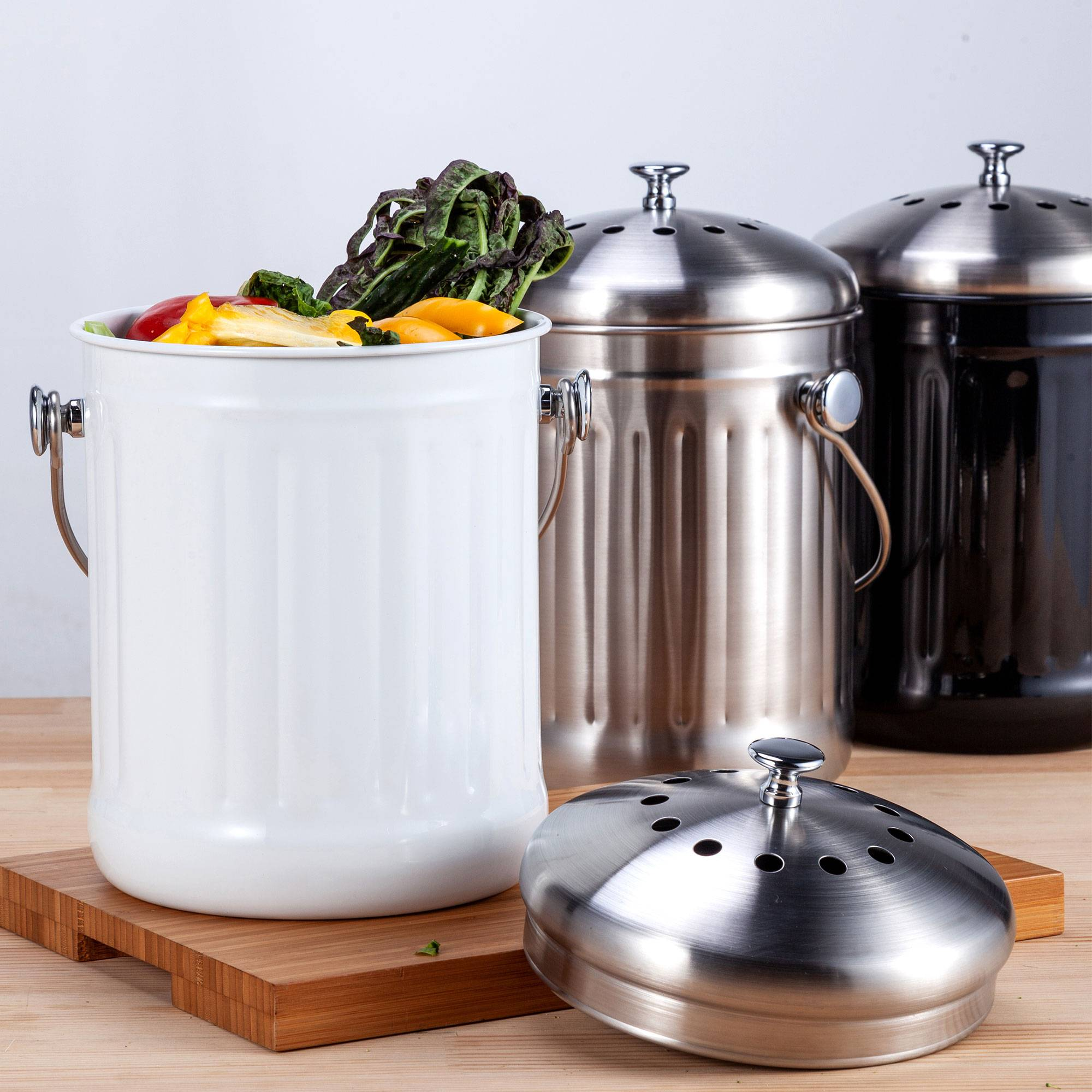 AliExpress Premium Seau Compost Inodore en Acier Inoxydable pour Cuisine - Poubelle Compost Cuisine - Comprend
