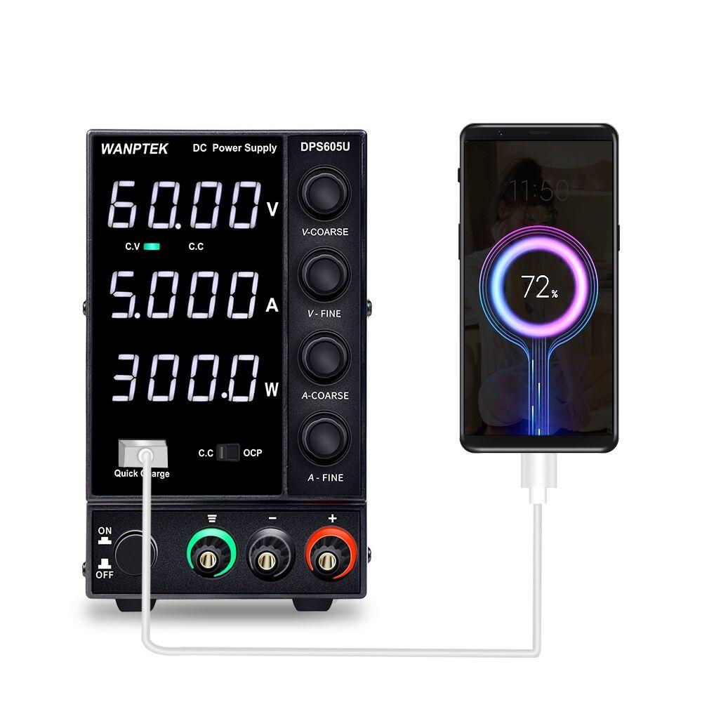 AliExpress Wanptek alimentation cc réglable 60V 5A LED banc de laboratoire numérique Source d'alimentation