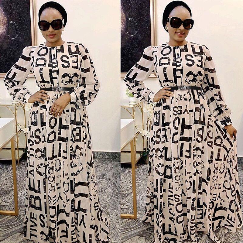 AliExpress Robe longue en mousseline de soie pour femmes, vêtements africains, Dashiki, imprimé, élégante,
