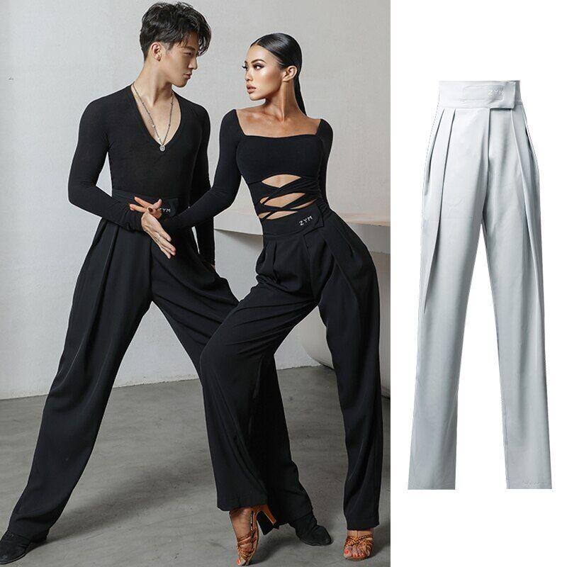 AliExpress Pantalon de danse pour Couple, vêtements de danse latine Standard pour femmes et hommes,