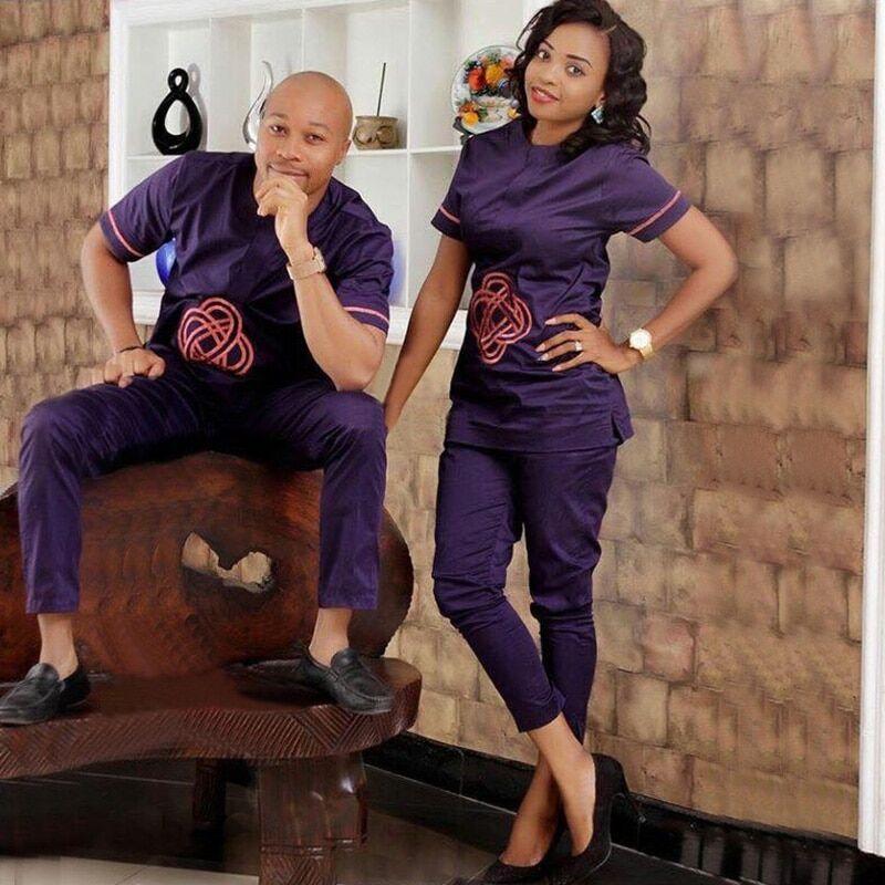 AliExpress H & D – vêtements africains pour Couple, ensemble de 2 pièces pour hommes et femmes, Dashiki,