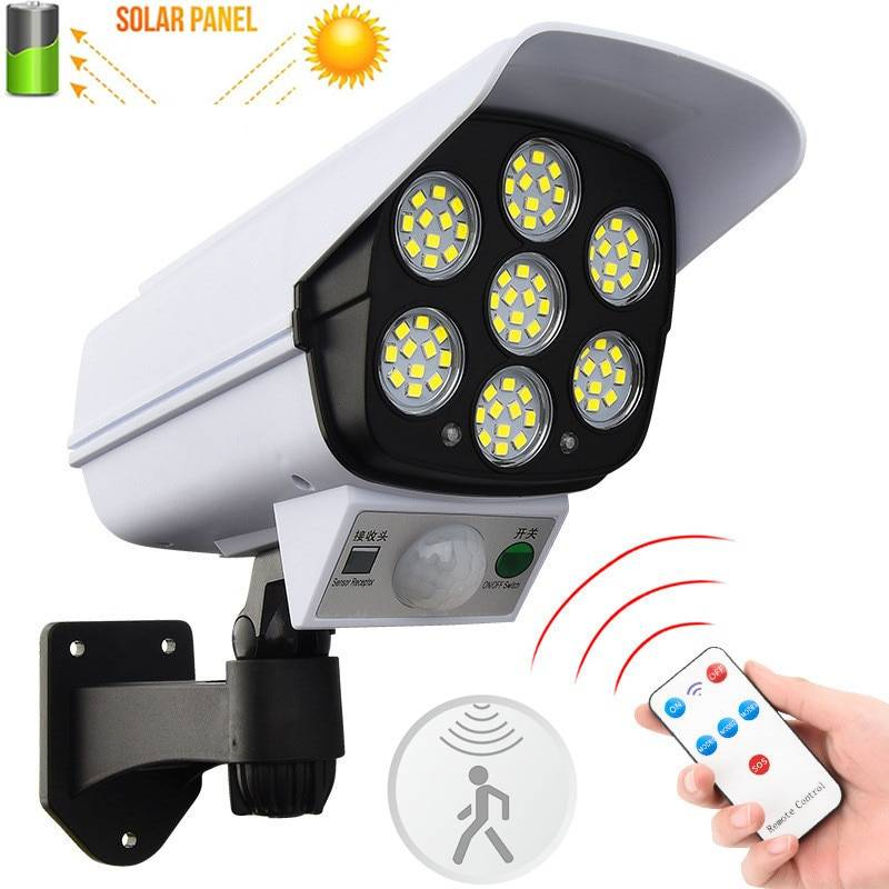 AliExpress 77 ampoules LED avec détecteur de mouvement PIR, lampe murale d'extérieur, étanche, avec caméra de
