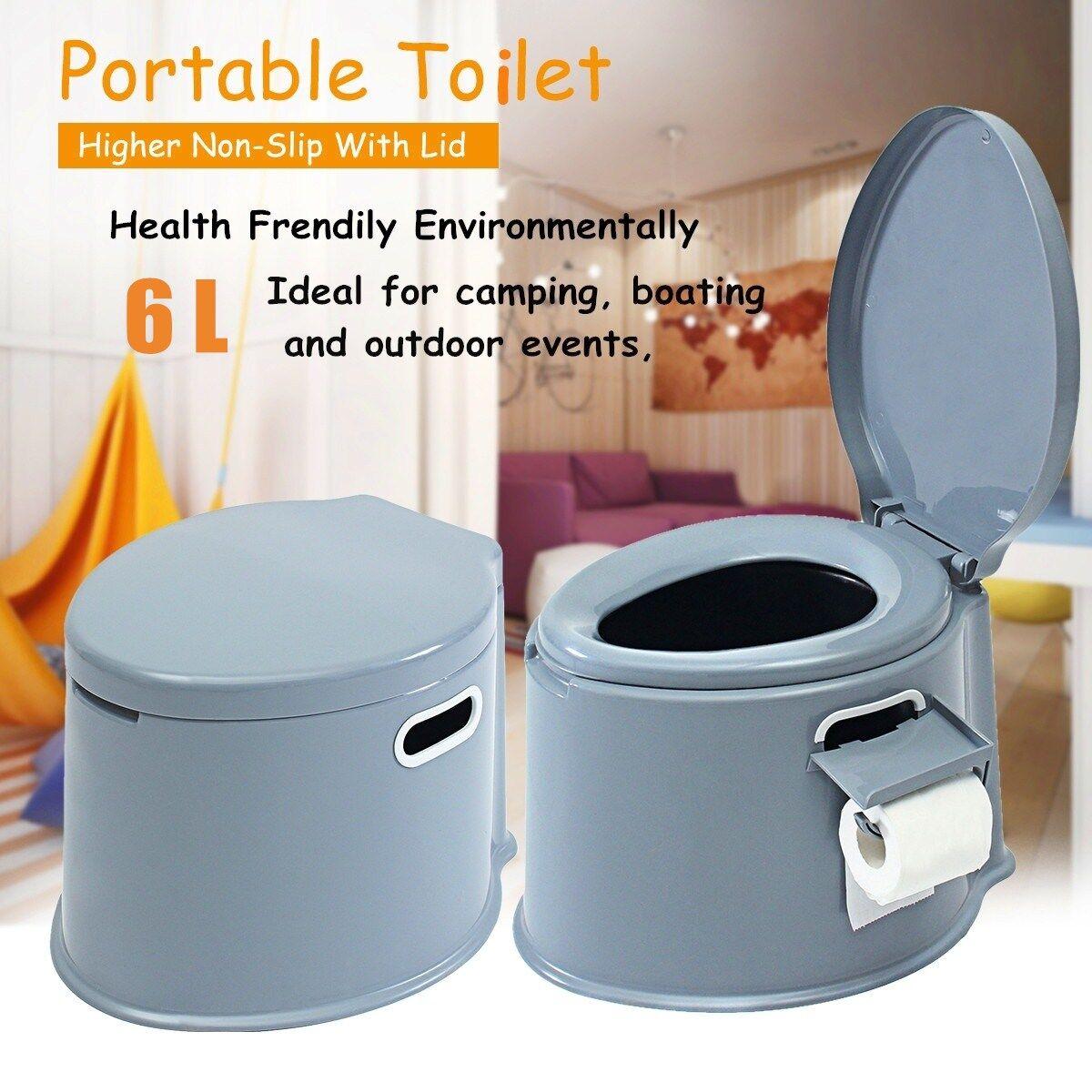 AliExpress Pot de toilette Portable pour personnes âgées, chasse d'eau, pour voyage, Camping, randonnée, aide