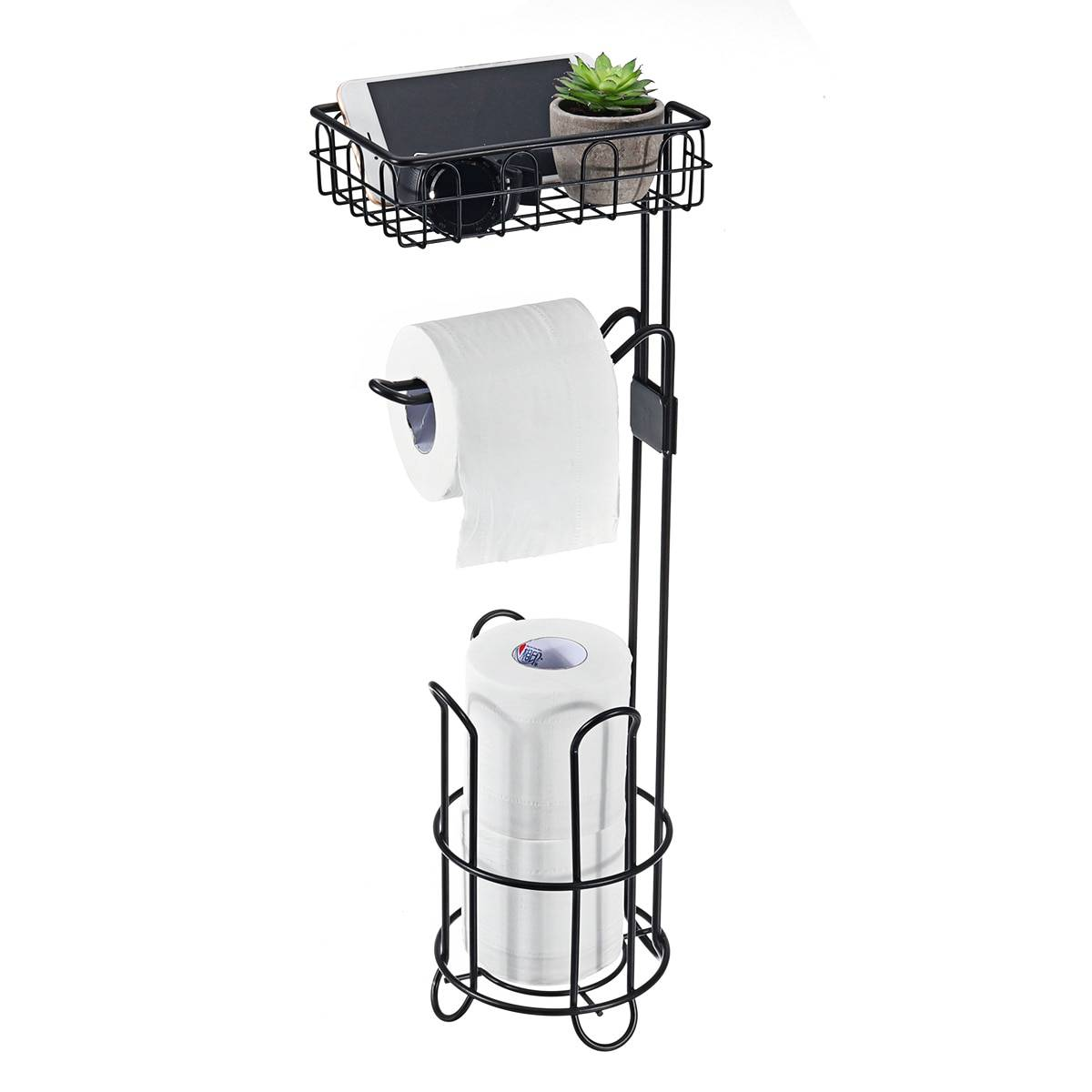 AliExpress Support de rangement Vertical pour rouleaux de papier toilette en métal, panier de rangement en fer