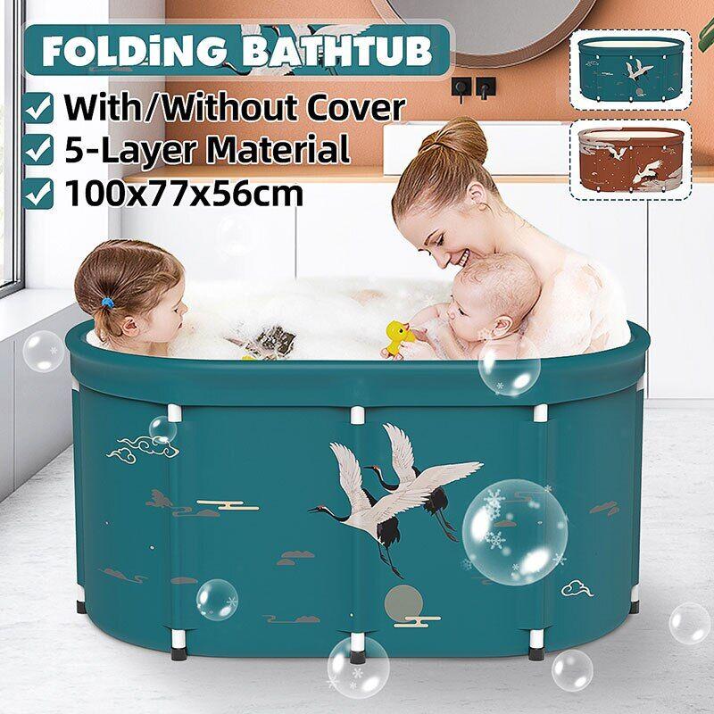 AliExpress Baignoire repliable de 100cm pour adulte et enfant, accessoire de piscine, Sauna, SPA, lavage