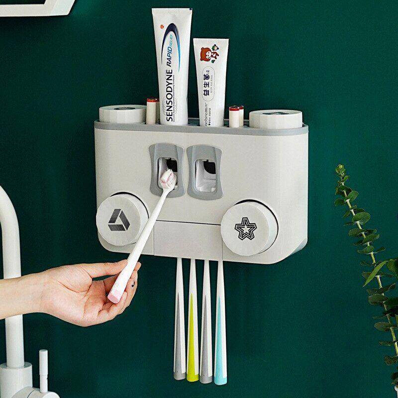AliExpress Distributeur de dentifrice multifonction, cosmétiques, anti-poussière, accessoires de salle de bain,