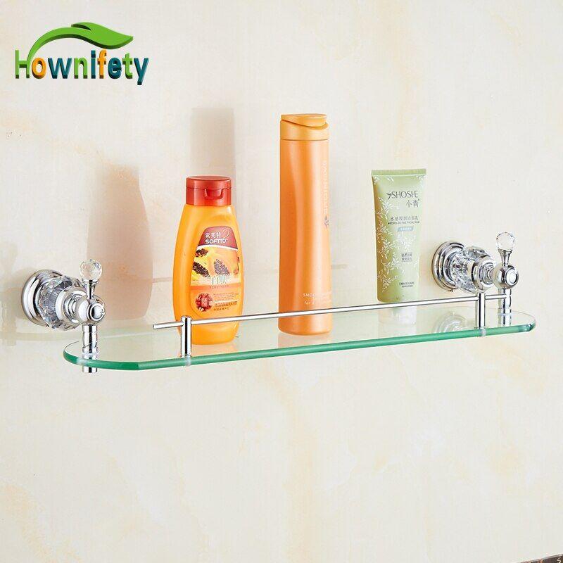 AliExpress tagère en verre en laiton massif, étagère de rangement pour cosmétiques, accessoires de maison,